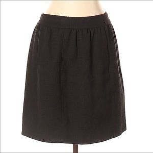 Chanel 07C black cotton textured skirt